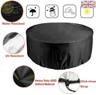 Silvotek 420D Heavy Duty Canvas Round Patio Table Covers- Waterproof C754b