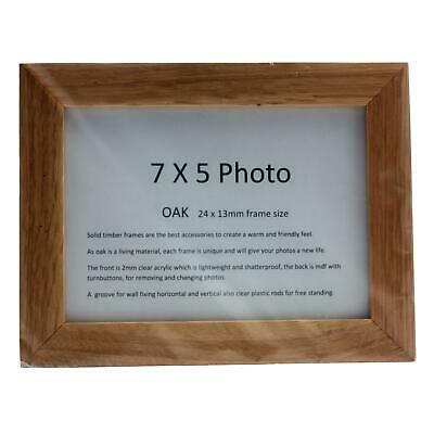 Real Solid Timber Oak Wood Picture/ Photo Frame 7 x 5 Handmade UK