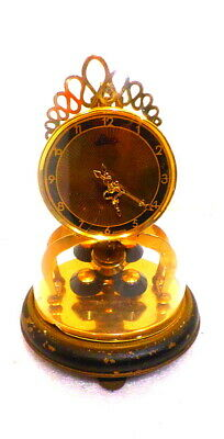 German Black Deco Dial Original 400 Day Anniversary Clock With Dome--Wind Annual