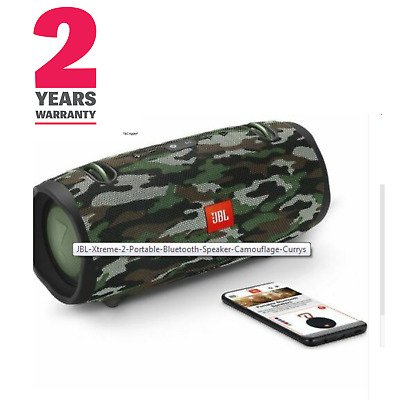 JBL Xtreme 2 Portable Bluetooth Speaker - Camouflage waterproof  bluetooth 2Y Wa