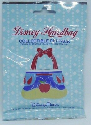 Disney Pin Collectible DISNEY HANDBAG Mystery Pack Randomly SEALED Set of 5