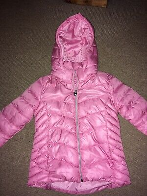 Girls Pink Lightweight Padded Jacket Age 8-9 Years In Ex Condition