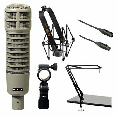 Electro-Voice RE20 Microphone Kit with Shockmount, Two-Section Broadcast Arm