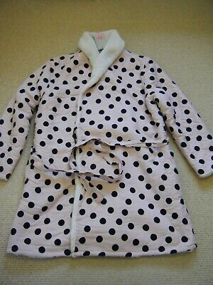 Boden ~ Pale Pink Dressing Gown With Navy Spots ~ Size XL ~ NWT