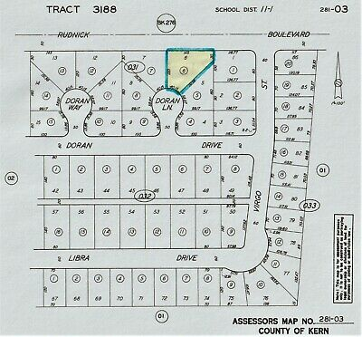 Large Subdivision Lot - California City, Ca - No Minimum - No Reserve