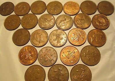 Great Britain 25 2 New Pence Various Date United Kingdom Elizabeth II & others
