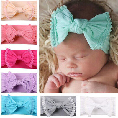 Baby Girls Kids Toddler Sweet Bow Knot Hairband Headband Stretch Cloth Head Wrap