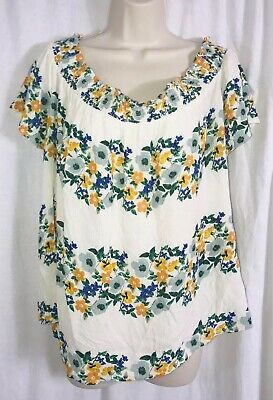 Old Navy Floral Off The Shoulder Bouse Women's Size XL