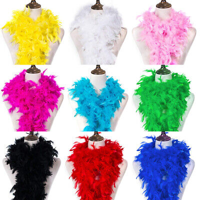 2 Yard Fluffy Feather Boa Craft Scarf Birthday Party Wedding Costume Party Decor