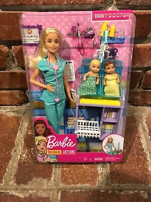 BARBIE CAREER DOLL BABY DOCTOR WITH 2 BABIES BRAND NEW IN BOX HARD TO FIND New