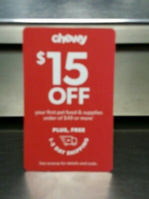 CHEWY $15 Off Your First Pet Food & Supplies Order of $49 or More Exp 2/29/2020