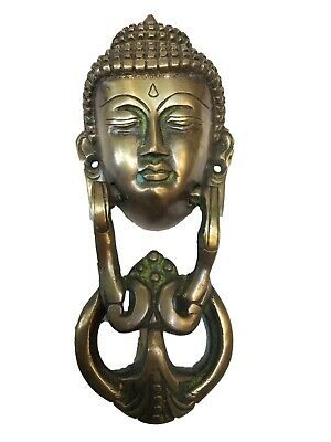Brass Antique Personalized Gautama Buddha Hanging Face Door Knocker #TSHUK328
