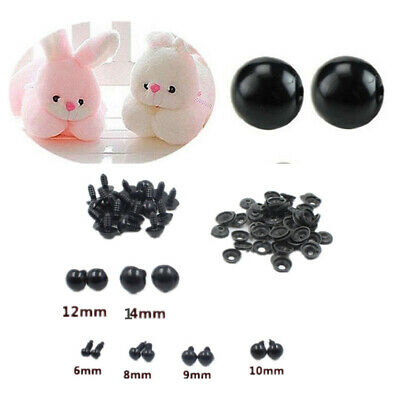 100X DIY Plastic Safety Eyes Soft Toys Teddy Bear Doll Animal Making Craft Screw
