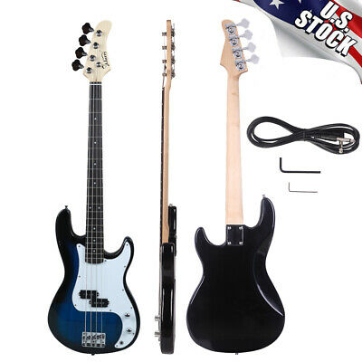 Glarry GP Electric Bass Guitar 4 Strings with Plectrum, Guitar Strap, Bag, AMP