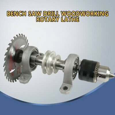 DIY Spindle Chuck Bearing Seat Pulley Bench Saw Drill Woodworking Rotary Lathe