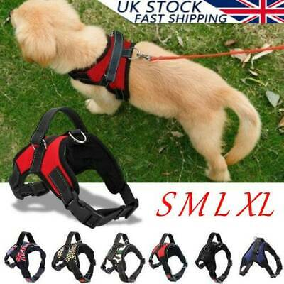 Non-Pull Dog Harness Adjustable Puppy Walking Strap Vest Soft Padded Chest Belt