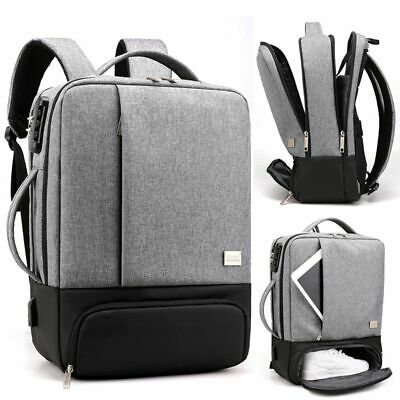 Men Women Backpack Handbag Travel Business Bag Laptop 17in Computer Anti Theft