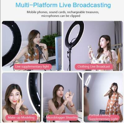 18 Inch LED Ring Light Lamp Photography Lights Dimmable With 2.1M Tripod stand