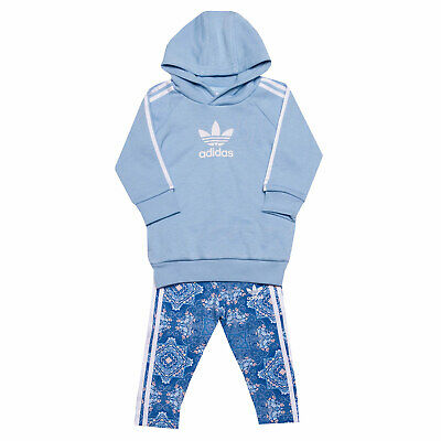 Infant Girls adidas Originals Culture Clash Tracksuit In Blue- Hoody:- Raglan