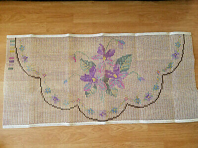 "Latch hook rug canvas ""Violets"" Original Readicut design."