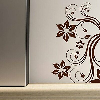 Wall Sticker Black Floral Home Décor Removable Posters Wall Art Decal Hall Decor