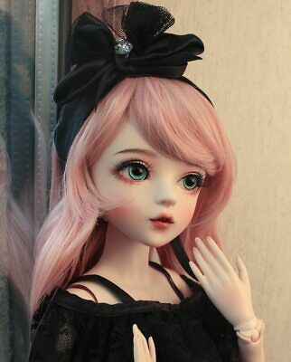 """24"""" BJD Doll 1/3 Ball Joint Girl + Changeable Eyes + Wigs + Clothes Xmas Gift"""