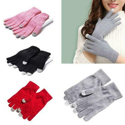 Women Winter Full Fingered Touch Screen Warm Gloves Knit Thicken Thermal Mittens