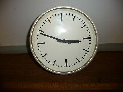 Vintage Gents Slave Clock . Small Vintage Gents Wall Clock with 8.5 in. dial .