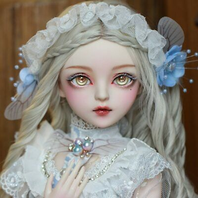BJD 1/3 Ball Jointed Doll Girl With Handpainted Face Makeup Wigs Eyes Clothes