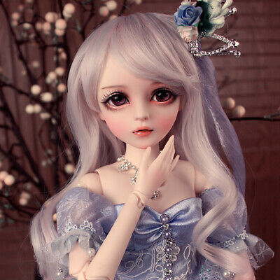 """24"""" 1/3 Ball Jointed BJD Doll Girl + Free Face Makeup + Changeable Eye + Clothes"""