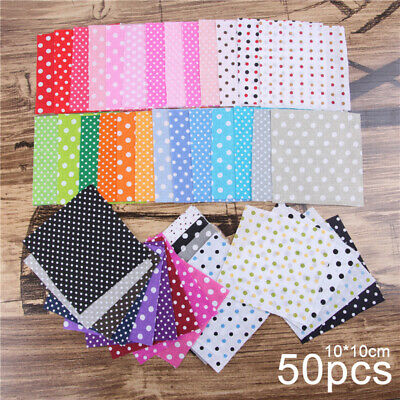50PCS Cotton Fabric Sewing Material Value Bundle Scraps Offcuts Quilting crafts