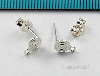 20x small premium Round Swirl Earring Back 925 Sterling Silver nutz Clutch E32s