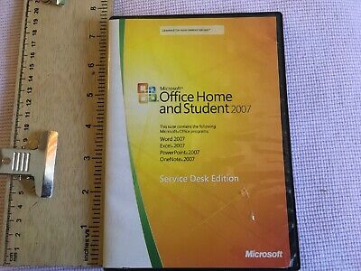Microsoft OFFICE HOME AND STUDENT 2007 Service Desk Edition Free Shipping