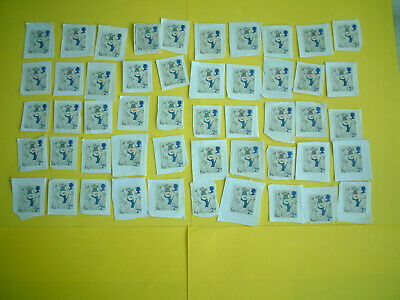50 X 2nd CLASS UNFRANKED CHRISTMAS XMAS GB DECIMAL STAMPS ON PAPER FV £30.50