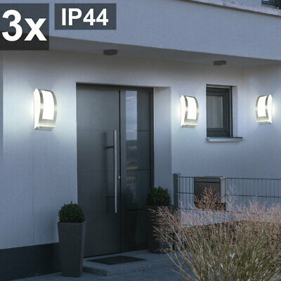 3er Set Exterior Fachadas Foco Pared Jardín Hof Luces E27 Big Light