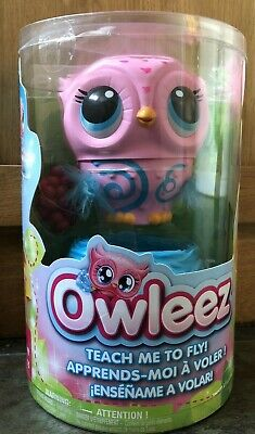 Owleez Flying Baby Owl Interactive Toy - Pink Brand New