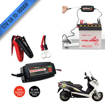 Automatic Electronic Car Battery Charger 12V 5A Fast/Trickle/Pulse Modes 5 AMP