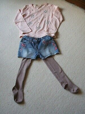 Girls Outfit - Next - Age 10 - Shorts/Top/Tights