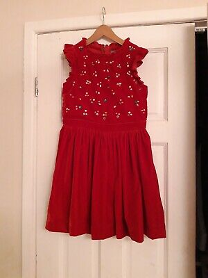 Gorgeous Next Red Velvet Christmas Or Party Dress Size 9 years