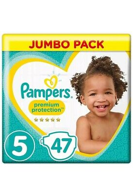 Pampers Premium Protection Baby Nappy Pants Stretchy  Size 5 Jumbo Pack