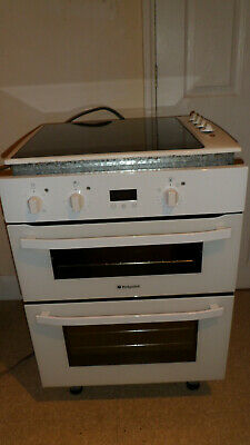 Hotpoint Ultimate Gas Double Oven 50cm Dark Brown Good