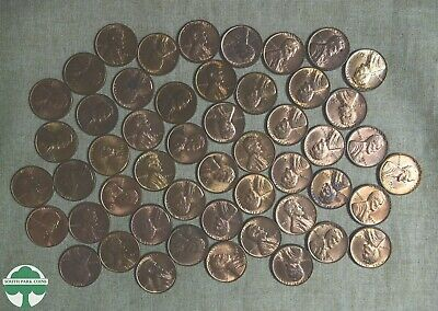 Roll Of 1946-P Lincoln Wheat Cents With Problems - Uncirculated - 50 Pieces
