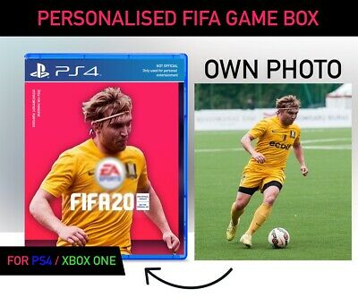 FIFA 20 - Custom Photo Personalised Box , PS4 XBOX ONE , BEST FOR XMAS - FAST ✅