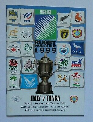 Italy Tonga Rugby Union World Cup Programme 1999