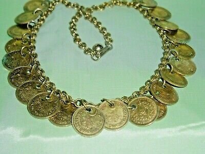 NEVER FOUND  Vintage 1956 PAKISTAN GOVERNMENT 21 pc. COIN NECKLACE