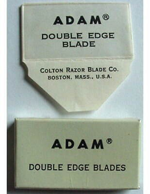 Vintage GILLETTE TRADEMARK ADAM  FULL BOX DE  Safety Razor Blades #2