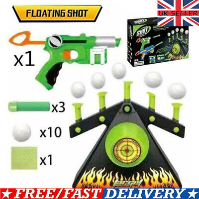 Electric Air Shot Hovering Ball Target Shooting Game Xmas Party Foam Darts Game@