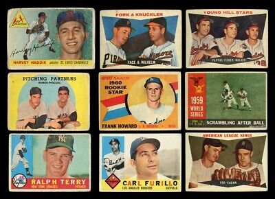 Lot Of (609) Assorted 1955 - 1970 Topps Baseball Cards (Poor - Vgex) *Gmcards*