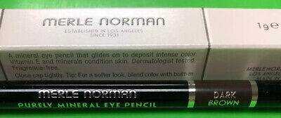 Merle Norman : DARK BROWN. Purely Mineral Eye Pencil.  1g / Net Wt .03oz NIB