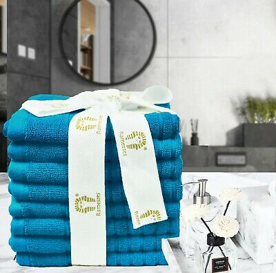 Ribbed Egyptian Cotton Bath Towel Range |  Bath Towel Hand Towel Face Washer Set